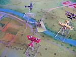 Kaiserschlacht 5 - Jasta 11's Ltn. Johann Reinhold (Carl Rohweder) flying the red Fokker Dr.1 claims his eighth victory after a putting a burst into...