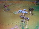 Kaiserschlacht 17 - A burst from seven-kill British Ace 2Lt. F.Gibbs (Carl Rohweder) flying the SPAD wounds the Roland observer Vzfw. Theo Bar (Bryan...