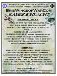 Kaiserschlacht flier - BrisWingsofWarCon run at Fastbreak Sports on the weekend of 20-21/3/10, the 92nd anniversary of the German 1918 Spring...