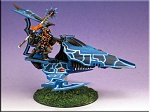 Warhammer 40k Eldar Farseer on a viper.  Made and used in a Dallas Grand Tournament event.