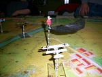 The Cowman's (...that's me) Fokker finally draws blood on Snoopy's doghouse as our pilots tangle over the front lines...