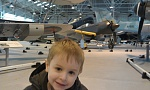 Lovin the 'War Planes' exhibit. In the background; A Kawasaki K1 fighter, and beyond that... THE LINCOLN!