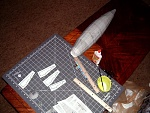 On to the construction of the tail fins...