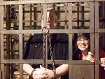 The Cowman locked up with a pretty Lady!