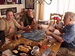 Tom, Colin, Mike and I get in a game of Merchants and Marauders!