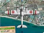 CANT Z.506S Rescue  612a Squadriglia, Sicily, Italy  Regia Aeronautica  Plane Card    Background South Sicily courtesy of Google Earth