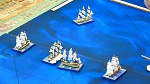 Sails of Glory.  A British 1st rate takes a pounding.