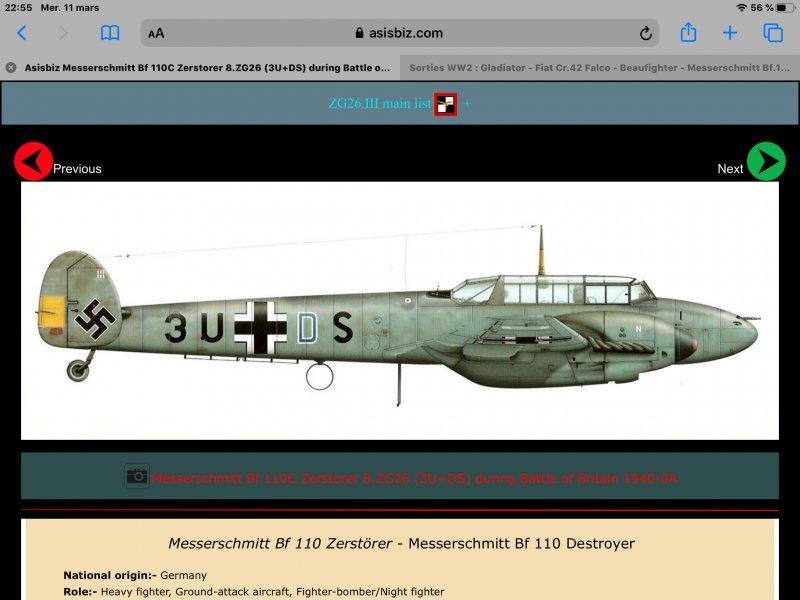 [WW2] Gladiator - Fiat Cr.42 Falco - Beaufighter - Messerschmitt Bf.110 Attachment